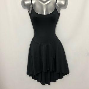 CAPEZIO dance wear mini dress high low hem size S
